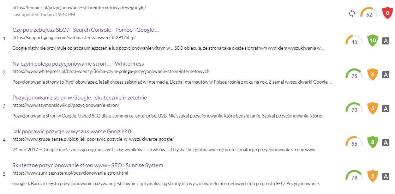 pozycjonowanie w google - moja strona