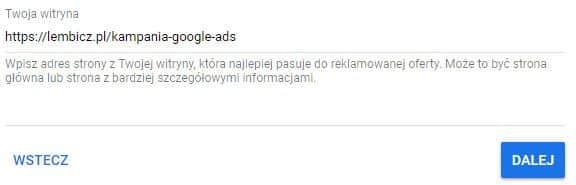 reklama google ads- krok3
